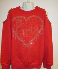 Sweater rood Paris