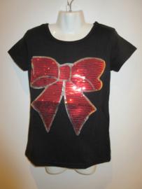 Shirt zwart met strik van Hello Girl