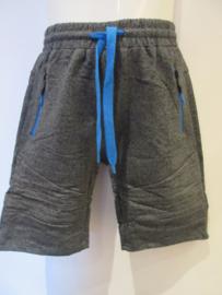 Jogger grijs gemileerd met blauwe rits