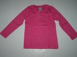 Longsleeve V-hals roze van J. Mirano