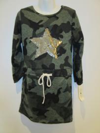 Jurk army groen ster