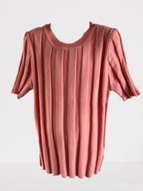 Shirt streep zalm/roze By Clara