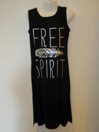 Lange Jurk zwart Free Spirit