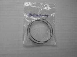 Oorbel Ringen silver middel