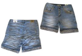 Karostar Jeans kort met panter omslag