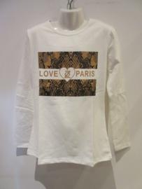 Shirt creme love paris van Zero