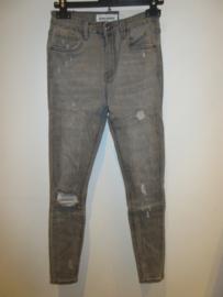 Jeans grey met scheuren Queen Hearts