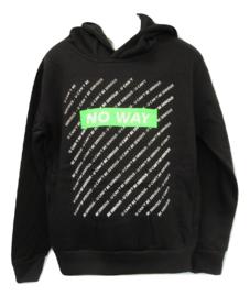 Sweater zwart no way groen