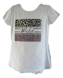 Shirt wild met roze en panter