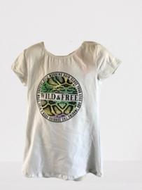 Shirt wild free print lila/groen/blauw