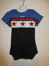 Shirt zwart/blauw sterren