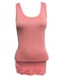 Lange Top basic peach