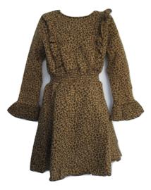 Jurk leopard beige/zwart