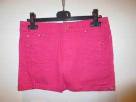 Jeans rok donker roze