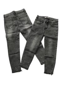 Jeans G66 donker grijs met rafeltjes onder