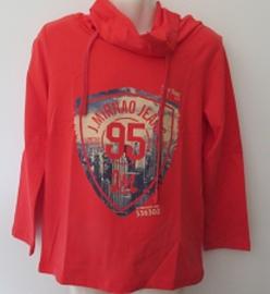 Longsleeve rood 95 met koll van J.Mirano