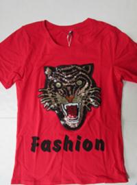 Shirt rood tijger