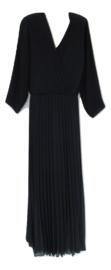 Lange plisse jurk blauw