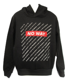 Sweater zwart no way rood