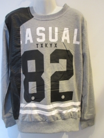 Sweater grijs casual 82
