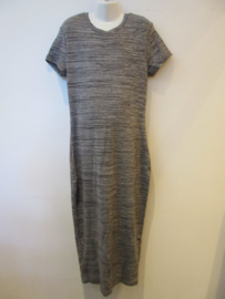 Maxi dress zwart gemileerd