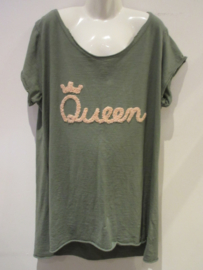 Shirt groen Queen