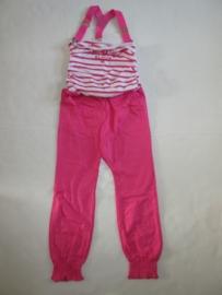 Jumpsuit roze met bretels van Zero