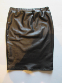 Rok zwart Leather look