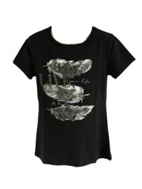 Shirt zwart veer van Zero