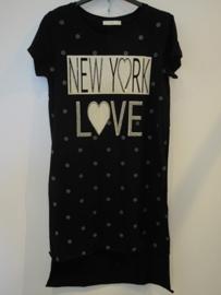 Tuniek zwart NY Love