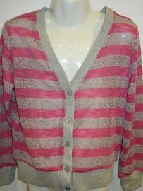 Vest d. roze/grijs met knoopjes van Zero
