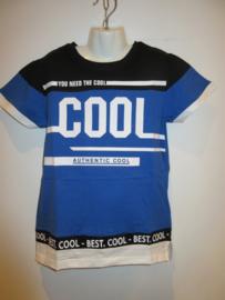 Shirt zwart/blauw cool