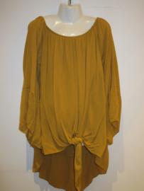 Knoop blouse geel
