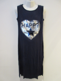 Maxi dress blauw happy met splitten