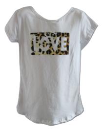 Shirt wit love/panter