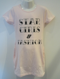 Jurk roze star girls