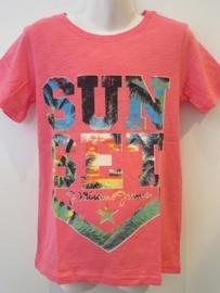 Shirt koraal sun set van J. Mirano