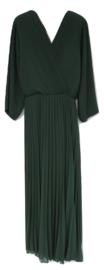 Lange plisse jurk groen