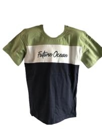 Shirt blauw/groen Future van Kids Up