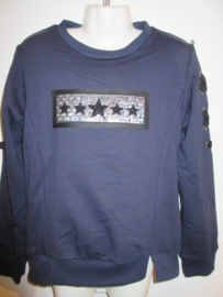 Sweater blauw met sterretjes S & Q