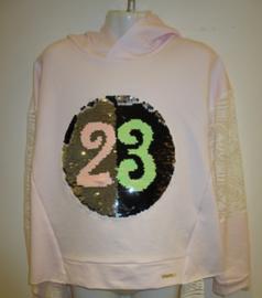 Sweater roze nr 23 met omkeerbare pailetten