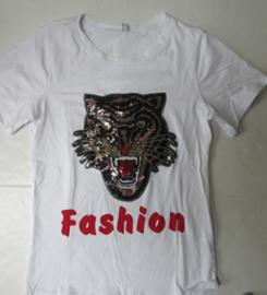 Shirt wit tijger