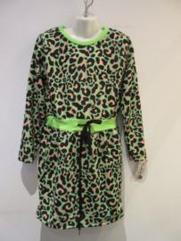 Panter jurk groen