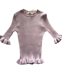 Shirt Lila ribbel By Clara