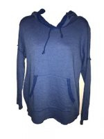 Capuchon sweater blauw