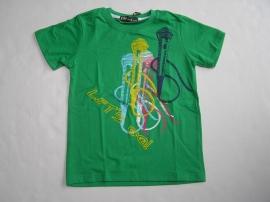 Shirt Groen Microfoon