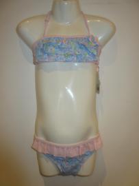 Bikini licht blauw met bies roze AA220