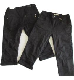 Karostar capri jeans zwart
