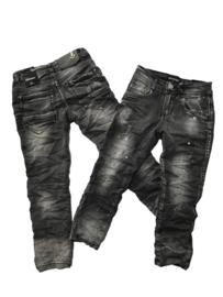Jeans vaal zwart Boom Kids met spetters