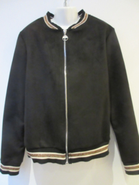Blouson jasje Suedine zwart